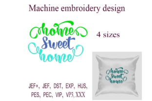 Home Sweet Home House & Home Embroidery Design By ImilovaCreations