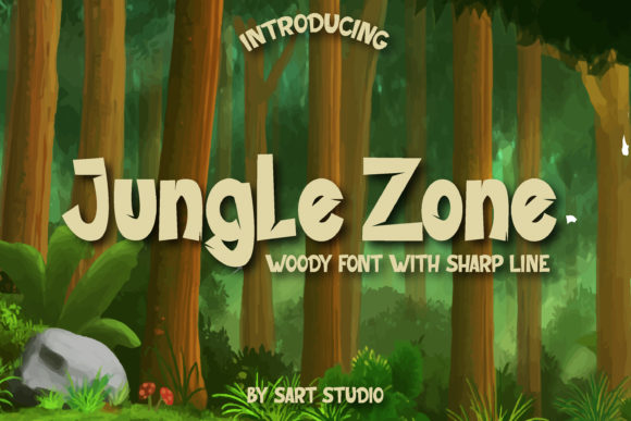 Print on Demand: Jungle Zone Display Fuente Por sartstudio
