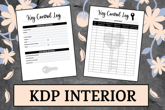 Print on Demand: Key Control Log | KDP Interior Graphic KDP Interiors By Hungry Puppy Studio