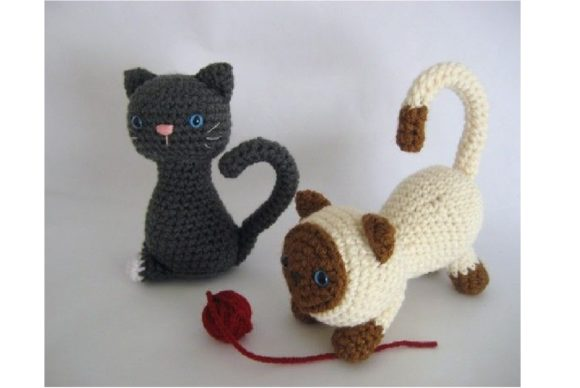 Kitten Amigurumi Crochet Pattern Graphic Crochet Patterns By Amy Gaines Amigurumi Patterns - Image 1