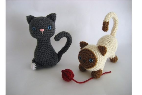 Kitten Amigurumi Crochet Pattern Graphic Crochet Patterns By Amy Gaines Amigurumi Patterns - Image 2