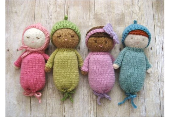 Knit Baby Doll Patterns Graphic Knitting Patterns By Amy Gaines Amigurumi Patterns - Image 1