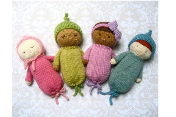 Knit Baby Doll Patterns Graphic Knitting Patterns By Amy Gaines Amigurumi Patterns - Image 2