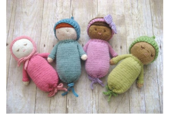 Knit Baby Doll Patterns Graphic Knitting Patterns By Amy Gaines Amigurumi Patterns - Image 3