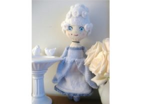 Knit Marie Antoinette Doll Pattern Graphic Knitting Patterns By Amy Gaines Amigurumi Patterns