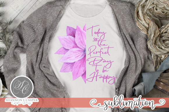 Print on Demand: Lavender Half Flower with Saying Graphic Illustrations By Shannon Casper