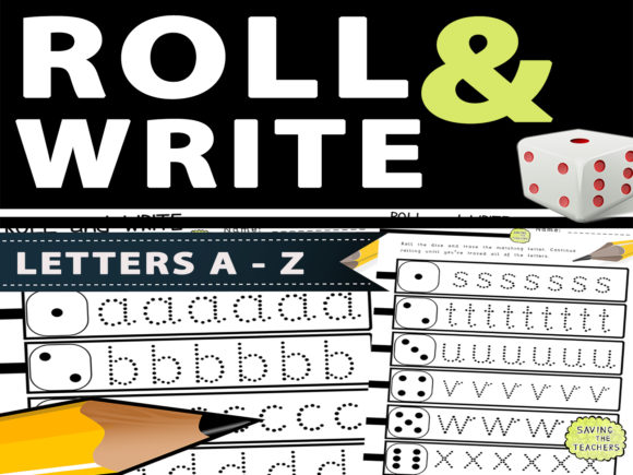 Letter Formation Dice Game: Letters a-Z Graphic PreK By Saving The Teachers