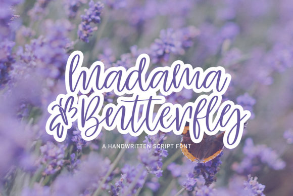 Print on Demand: Madama Butterfly Script & Handwritten Font By Masha Artifex