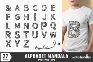 Mandala Alphabet Initial a to Z Graphic Crafts By vectorbundles