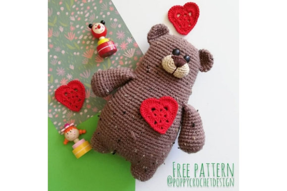 Manfread Bear Crochet Pattern Grafik Häkeln von Needle Craft Patterns Freebies