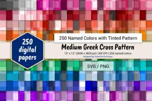 Print on Demand: Med Greek Cross Paper - 250 Colors Graphic Backgrounds By SmartVectorDesign