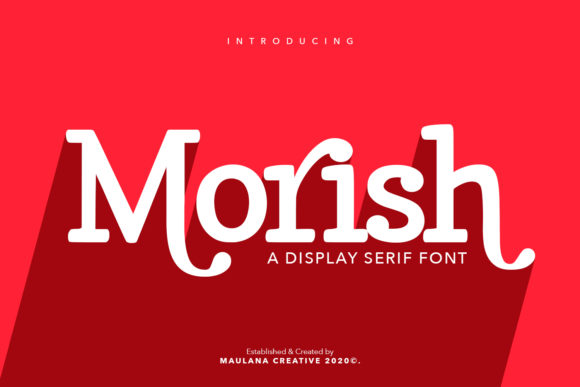 Print on Demand: Morish Serif Font By Maulana Creative