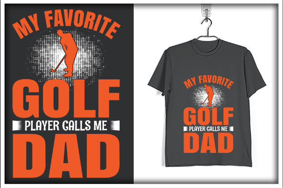 Download Free My Favorite Golf Player Calls Me Dad Graphic By Svg Hut for Cricut Explore, Silhouette and other cutting machines.