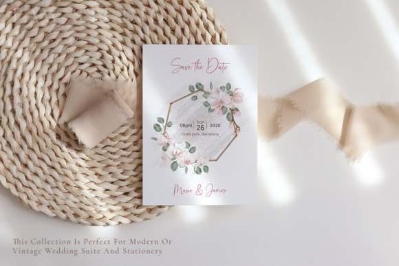 Orchid Boho Wedding Dry Leaves Clipart Graphic Image