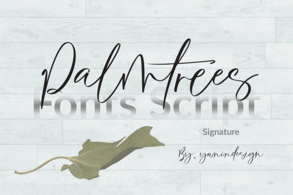 Print on Demand: Palmtrees Script & Handwritten Font By YanIndesign