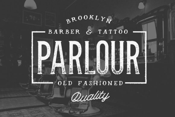 Print on Demand: Parlour Display Font By Hustle Supply Co.