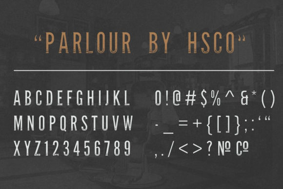 Print on Demand: Parlour Display Font By Hustle Supply Co. - Image 3