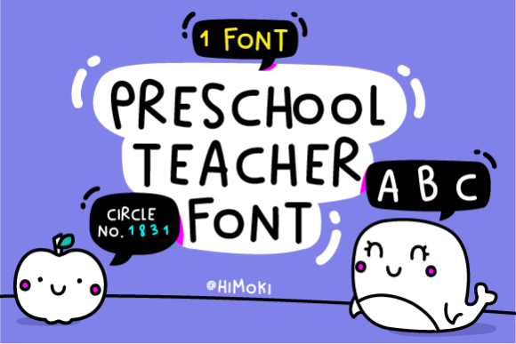 Print on Demand: Preschool Teacher Script & Handwritten Font By himoki
