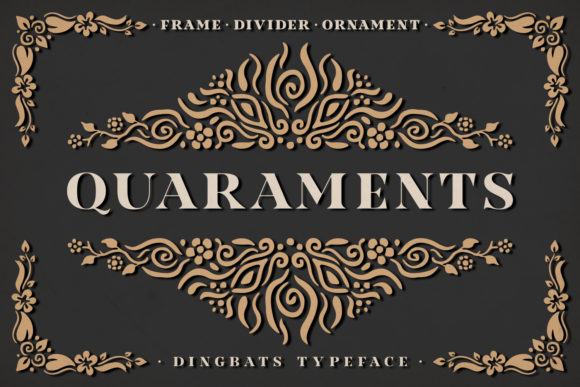Print on Demand: Quaraments Dingbats Font By Situjuh