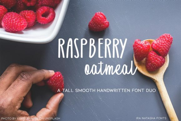 Print on Demand: Raspberry Oatmeal Script & Handwritten Font By Ira Natasha