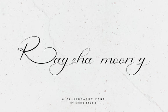 Print on Demand: Raysha Moonly Script & Handwritten Font By EdricStudio