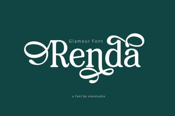 Print on Demand: Renda Serif Font By Olexstudio