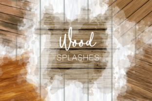 Print on Demand: Rustic Wood Texture Background Splashes Graphic Textures By Prawny