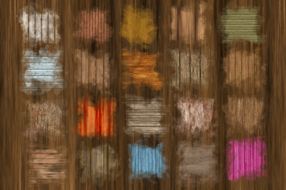 Print on Demand: Rustic Wood Texture Background Splashes Graphic Textures By Prawny - Image 4