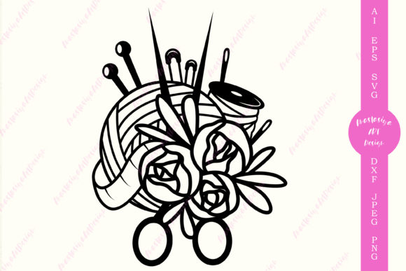 Sewing Knitting Clipart   Graphic Crafts By AnastasiyaArtDesign
