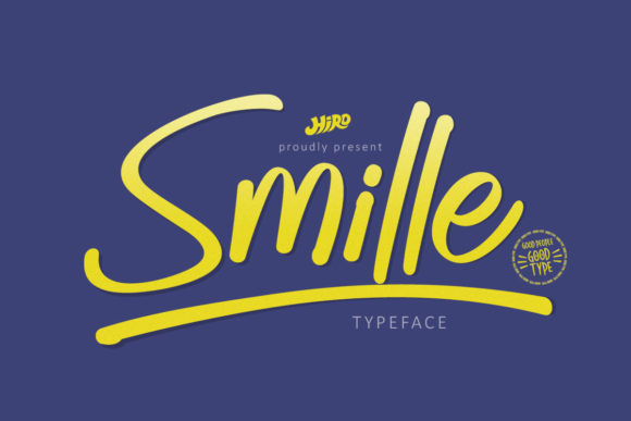 Print on Demand: Smille Script & Handwritten Font By HIRO.std