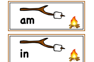 S'more Words! Graphic K By Lory's Kindergarten Resources!