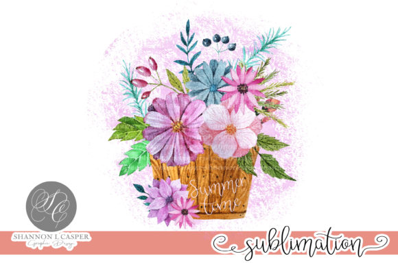 Print on Demand: Spring Summer Watercolor Bouquet Graphic Illustrations By Shannon Casper
