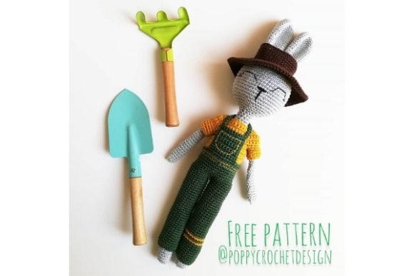 The Gardener Bunny Crochet Pattern Graphic Crochet Patterns By Needle Craft Patterns Freebies
