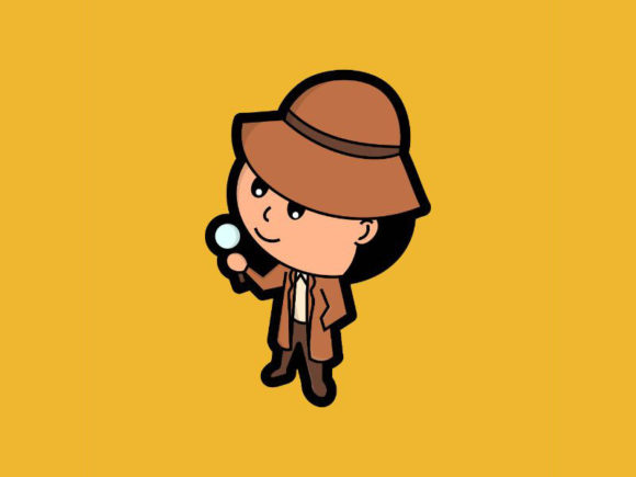 Print on Demand: The Cute Detective is Investigating Graphic Icons By firdausm601