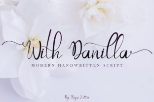 Print on Demand: With Danilla Script & Handwritten Font By yogaletter6