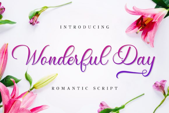 Print on Demand: Wonderful Day Script & Handwritten Font By almarkhatype