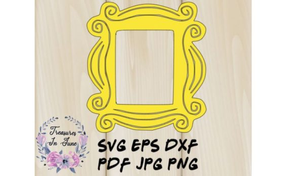 Yellow Frame for Front Door Peep Hole Graphic 3D SVG By Treasures In June