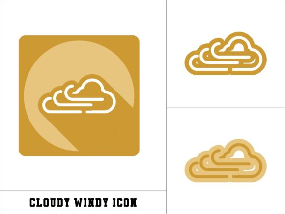 Print on Demand: Cloudy Windy Icon Graphic Icons By novieart 99