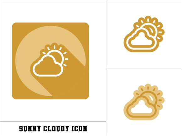 Print on Demand: Sunny Cloudy Icon Graphic Icons By novieart 99
