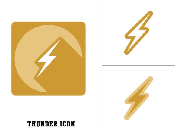 Print on Demand: Thunder Icon Graphic Icons By novieart 99