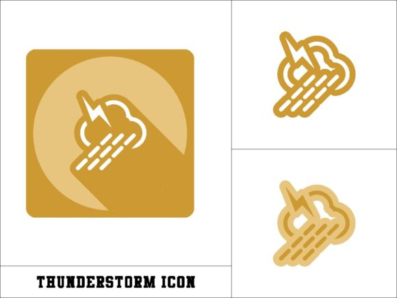 Print on Demand: Thunderstorm Icon Graphic Icons By novieart 99