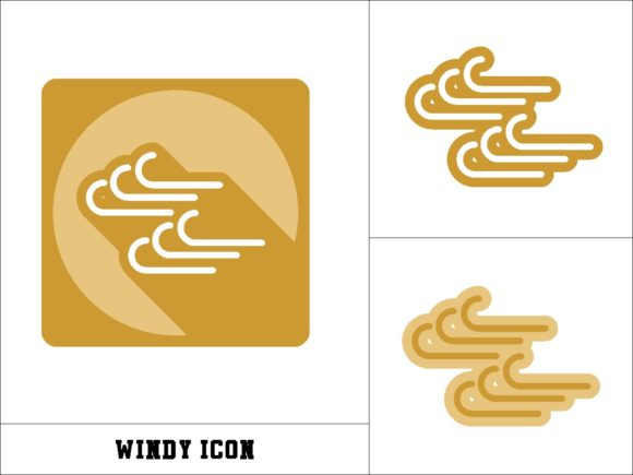 Print on Demand: Windy Icon Graphic Icons By novieart 99