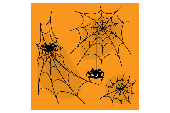 Halloween Spider Web Background Cut File