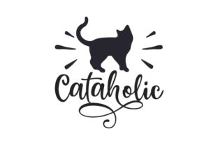 Cataholic Cats Craft Cut File By Creative Fabrica Crafts