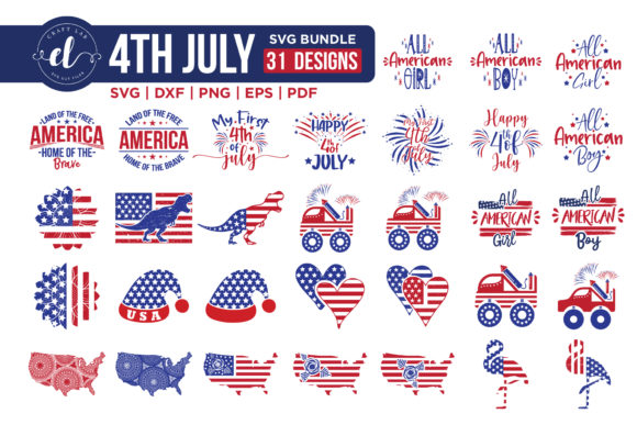 4th of July Bundle Graphic Crafts By CraftlabSVG