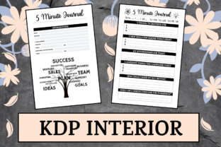 Print on Demand: 5 Minute Journal | KDP Interior Graphic KDP Interiors By KDP Mastermind