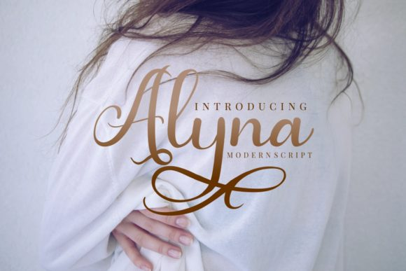 Print on Demand: Alyna Script & Handwritten Font By yunitaecy