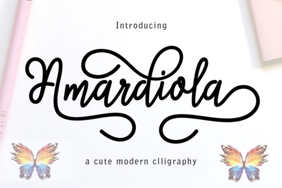 Print on Demand: Amardiola Script & Handwritten Font By parawtype