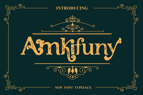Print on Demand: Amkifuny Display Font By Maulana Creative