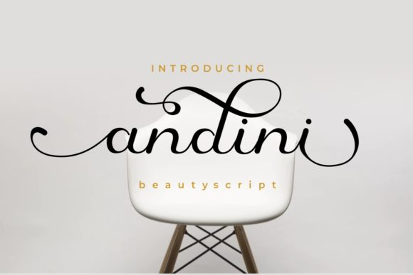 Print on Demand: Andini Script & Handwritten Font By yunitaecy
